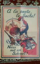 """Copy of WW2 Morale Boosting  Poster """" Out With The Boche"""" Strasborg Liberation"""