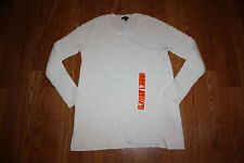 NWT Womens NAUTICA Ivory White Long Sleeve Cable Knit Sweater Sz L Large