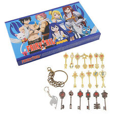Fairy Tail of keys Blade Lucy Celestial Zodiac Spirit heart keychain set 18pcs