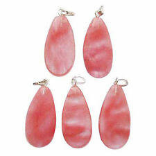 5 CHERRY QUARTZ Hand Made Crystal TEAR DROP Pendants 29mm