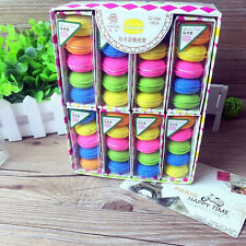 Lot of 5X Cute Macarons Colors Rubber Pencil Eraser Stationery School Supply New