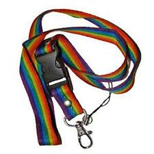 Keychain Lanyard Rainbow Stripes Gay Pride Key Chain Multi Color