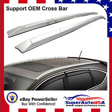 2012-2016 Honda CRV Roof Rack Side Rails OE Style Bars Silver Mount Bolt
