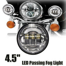 """4-1/2"""" Motorcycle 6 Cree LED Auxiliary Passing Fog Light Lamp Chrome For Harley"""