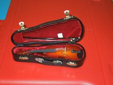 Violin Model With Case, Bow & Spare Bridge Hand Made Incredibly Detailed Model