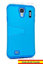 Funda Samsung I9505 / I9500 Galaxy S4 protectora / bumper con soporte azul cielo