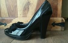 Cole Hann air insole patent leather platform heels.Size 7.5uk, sexy&super comfy!