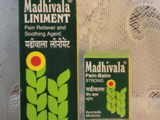 2 x AYURVEDA MADHIVALA  LINIMENT RUB + 2 JARS OF STRONG BALM  PAIN  RELIEVER