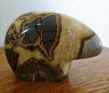 "Septarian Dragon Stone ZUNI BEAR Polished Carving 345 g.14 oz.4"" 102mm"