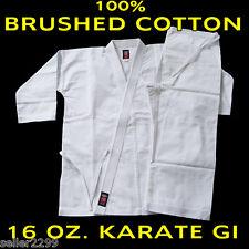 Size 5 WHITE 16 Oz. Gi Made of 100% Brushed Cotton Heavy Weight Karate Uniform