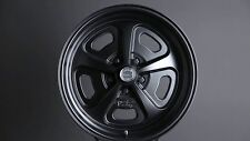 "15"" INCH HERITAGE VN501 WHEELS 1-PIECE 15X7 15X8 17X9 RIMS SATIN BLACK"