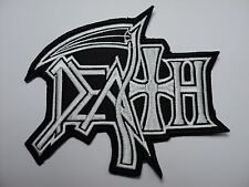 DEATH WHITE   SHAPED    LOGO    EMBROIDERED PATCH