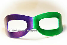 Purple & Green Riddler Leather Mask Halloween Batman Masquerade Superhero Unisex