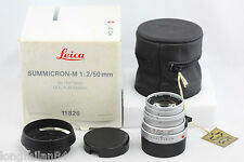 *RARE* Leica Summicron-M 50mm f2 1:2/50 Silver Chrome 11825 MP M8 M9 M240
