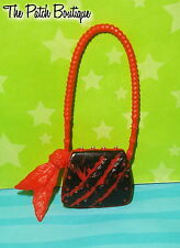 MONSTER HIGH 1ST ORIGINAL TORALEI STRIPE DOLL OUTFIT REPLACEMENT RED BLACK PURSE