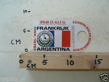STICKER,DECAL WK ARGENTINA 1978 VOETBAL,SOCCER JH HENKES FRANKRIJK FRANCE