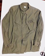 F.B.I. USED - ORIGINAL 1969 MILITARY JUNGLE FATIGUE SHIRT  - EXTRA LARGE REGULAR