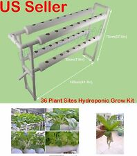 36 Plant Sites Hydroponic Grow Kit Ebb and Flow Deep Water Culture Garden System