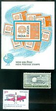 INDIA : 2 Better High Values + 1979 Complete Booklet. All Very Fine, Mint NH.