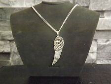"10 Silver Plated 18"" Necklaces with Large Angel Wing Pendant Wholesale Jewellery"