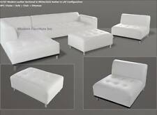 Modern contemporary white Leather Sectional Sofa chaise chair 3 pieces set #1707