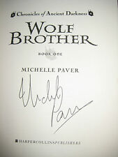 MICHELLE PAVER WOLF BROTHER US SIGNED 1st EDITION Like NEW Ships Free!