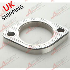 "A SET OF 2.25"" 2-BOLT Exhaust Flange and Exhaust Gasket  for 2 bolt Flange UK"