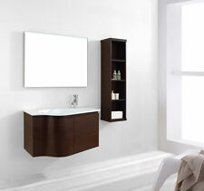 "VIRTU 36"" ROSELLE ES-1236 WALL HUNG VANITY BATHROOM CABINET SET / WALNUT"