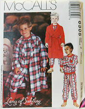 McCalls Pattern #6305 Childrens Boys Robe & Pajamas Size Med(5-6) Large(7-8)