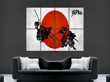 JAPENESE JAPAN SAMURAI WARRIORS  HUGE LARGE WALL ART POSTER PICTURE