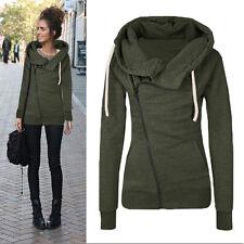 Womens Ladies Pullover Zip Casual Sweatshirt Hoody Jumper Top Jacket Coat Hoodie