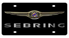 New Chrysler Sebring Gold Logo Acrylic License Plate