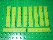 Lego Lime Green Plate 1x6 10 pieces (3666) NEW!!!