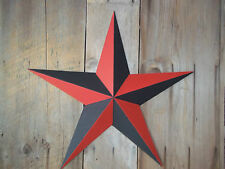 "Metal Star 53"" Painted Nautical Red/Black"