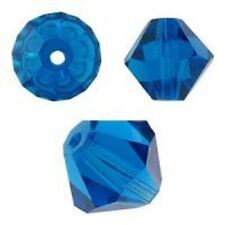 Swarovski Crystal Bicone. Capri Blue Color. 4mm. Approx. 144 PCS. 5328