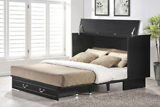 Arason Cottage Creden-ZzZ Murphy cabinet bed, black finish. Opens to Queen