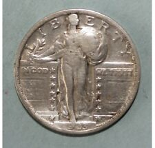 US Standing Liberty Quarter 25 Cents 1923 Fine + / Very Fine Silver Coin