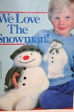 Childs Snowman Christmas Jumper & Snowman Toy Knitting Pattern (CL010)