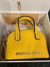 NWT BOXED MICHAEL KORS CINDY KEY CHARM FOB YELLOW $58 sunflower