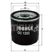Mahle Spin On Oil Filter OC1252 - Fits Citroen, Ford, Peugeot Vans & Land Rover