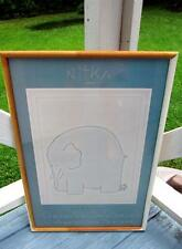 LOUIS NITKA ELEPHANT & LITTLE MAN SIGNED POSTER EXHIBITION POSTER