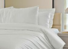 White KING SIZE Bed Set = Quilt Cover, King size Flat Sheet, 4 Pillow Cases