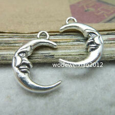 10pc Tibetan Silver Crescent Moon Pendant Charms Beads Craft Wholesale  PL221