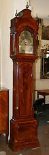 Musical 18th C George III Inlaid Dutch Hood Grandfather Tall Case Clock MINT!