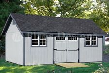 Storage Shed Plans 12' x 24' Gable Roof Style #D1224G, Material List Included