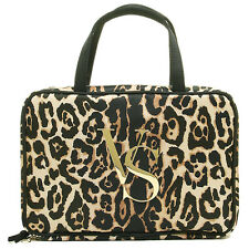 BNWT VICTORIA'S SECRET COSMETICS TRAVEL HANG UP BAG LEOPARD PRINT VALENTINES DAY