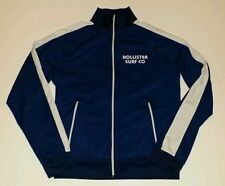 Hollister VTG Navy & White stripe Mens Med Track Jacket S.California Surf Club