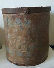 LARGE ANTIQUE TIN CAN / 2 DECALITRO / COFFEE MEASUREMENT / PUERTO RICO