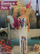 Plastic Canvas Fashion Doll Pattern EVENING In PARIS GOWN / Dress