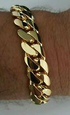 """14K Solid Gold Miami Cuban Link Bracelet, 8 """"  12.40MM 90  Grams"""